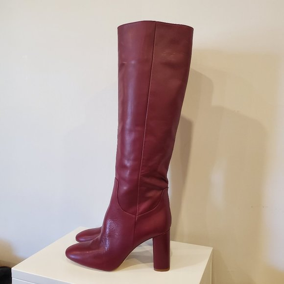Zara Burgundy sz 41 Boots